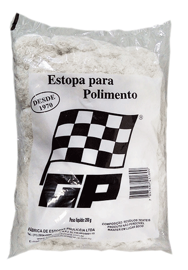 ESTOPA DE POLIMENTO 200G (FARDO COM 50PC)