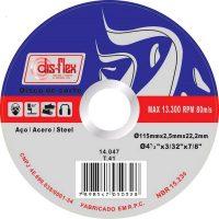 DISCO DE CORTE FERRO 4 1/2´´X7/8 DISFLEX 115X2,5X22,2MM