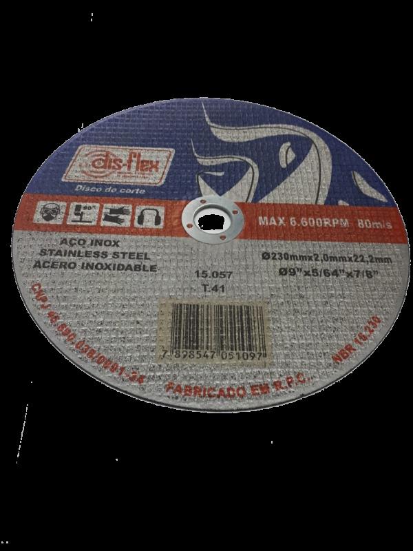 DISCO CORTE INOX 9´ DISFLEX X230X2,0X22,2MM